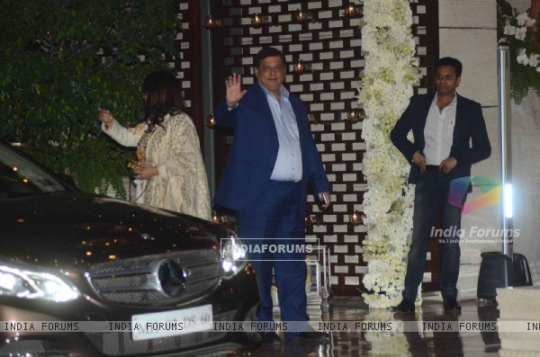 David Dhawan was snapped at Mukesh and Nita Ambani's Bash