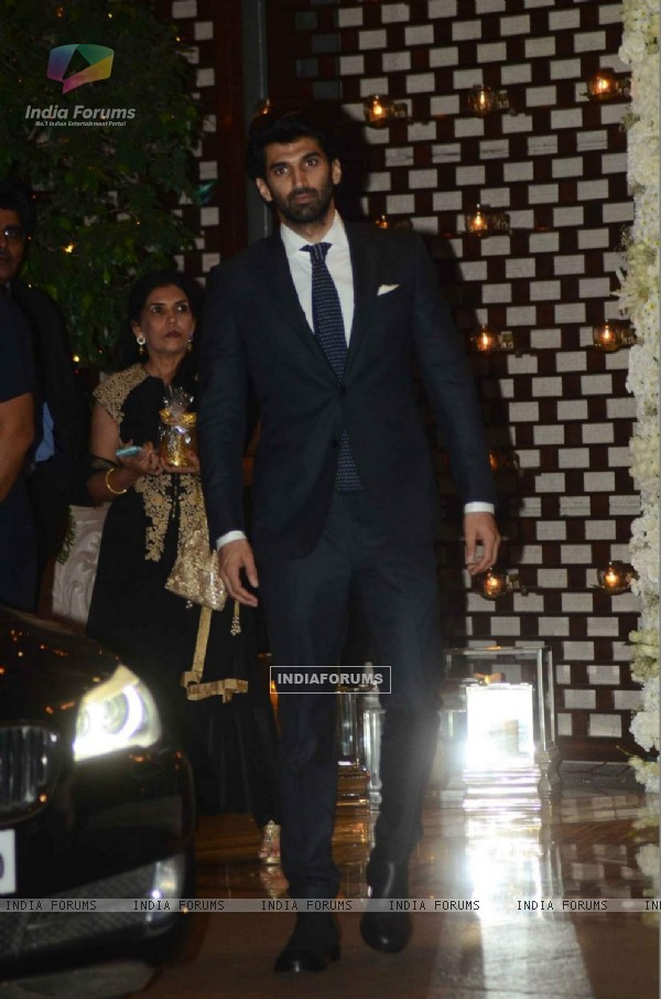 Aditya Roy Kapur was snapped at at Mukesh and Nita Ambani's Bash