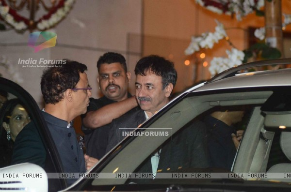 Rajkumar Hirani was snapped at Mukesh and Nita Ambani's Bash
