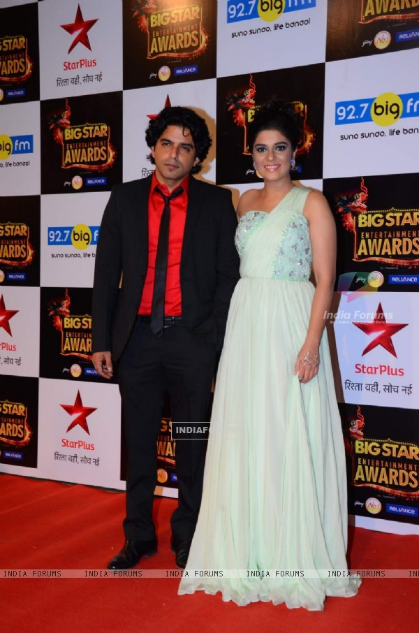 Raj Singh Arora and Pooja Gor at Big Star Entertainment Awards