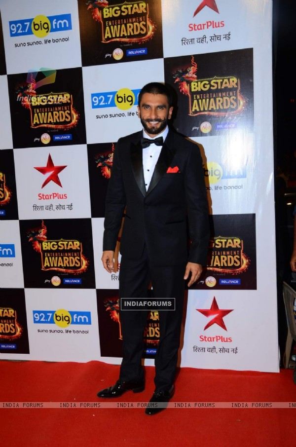 Ranveer Singh at Big Star Entertainment Awards