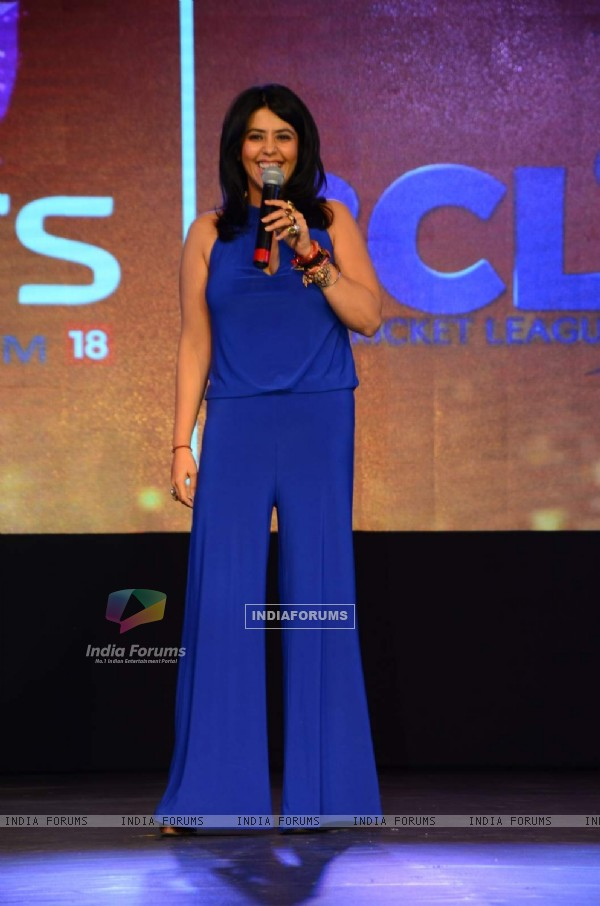 Ekta Kapoor at Launch of Colors 'Box Cricket League'