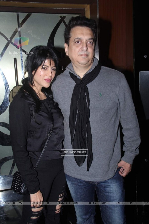 Sajid Nadiadwala with wife Wardha Khan at Special Screening of Bajirao Mastani