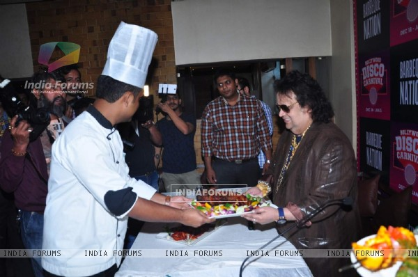 Disco King 'Bappi Lahiri' at Barbeque Nation's 'Bollywood Disco Carnival'