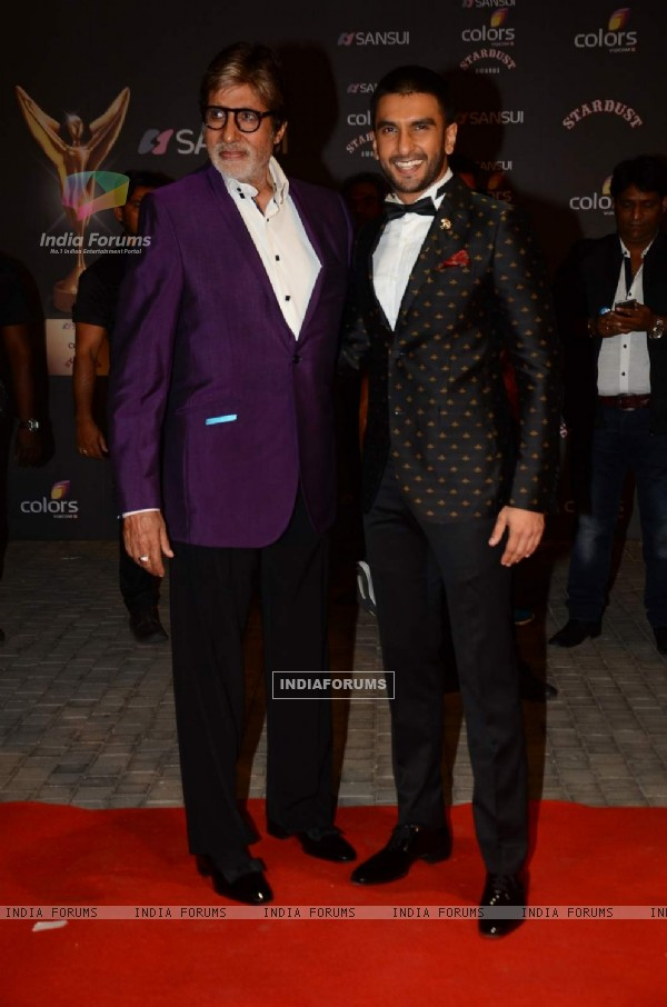 Amitabh Bachchan and Ranveer Singh at Stardust Awards