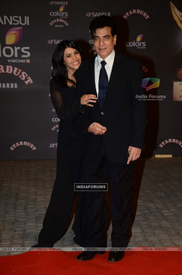 Jeetendra and Daughter Ekta Kapoor at Stardust Awards