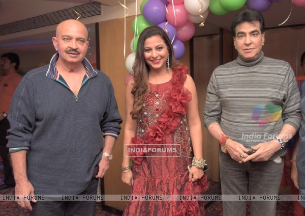 Raesh Roshan and Jeetendra at Gurpreet Kaur Chadha's Birthday Bash