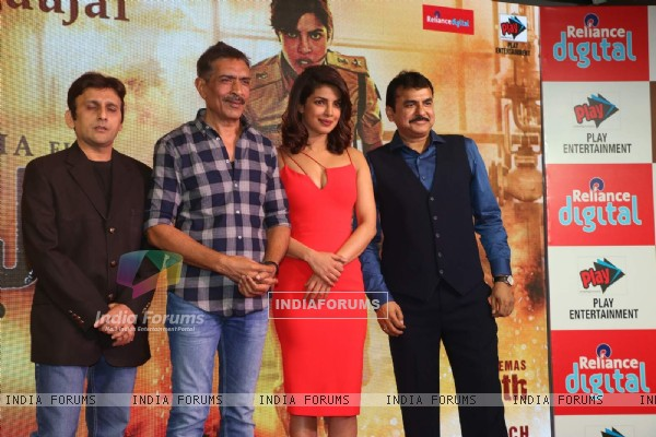 Prakash Jha and Priyanka Chopra at Trailer Launch of 'Jai Gangaajal'