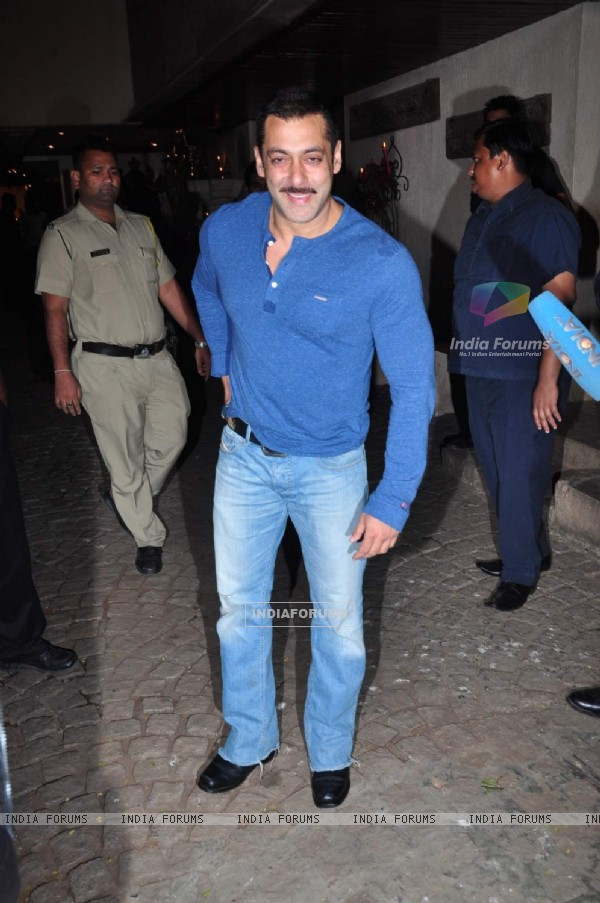 Salman Khan at Anil Kapoor's Birthday Bash