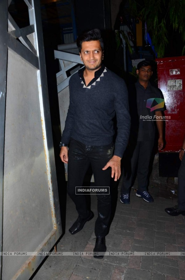 Riteish Deshmukh was snapped at Jackky Bhagnani's Birthday Bash