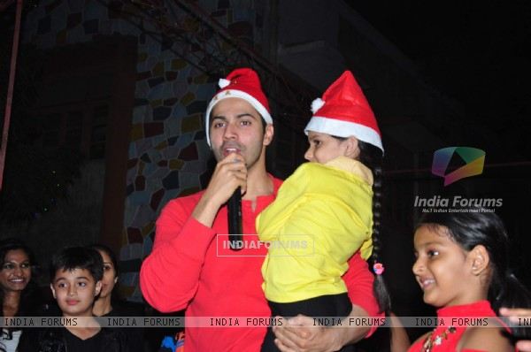 Varun Dhawan Celebrated Christmas with Orphanage Kids