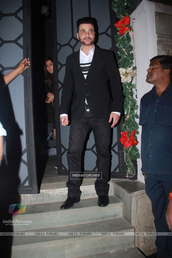 Sanjay Kapoor was snapped at Khan Family's Dinner Party at Nido