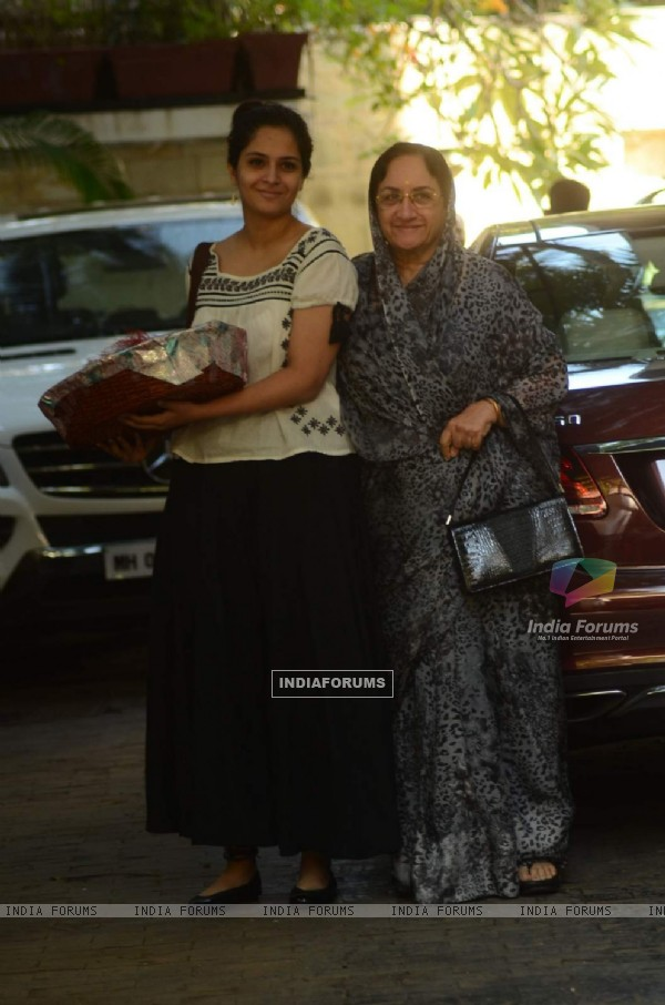 Neila Devi poses for the media at Kapoor Family's Christmas Brunch
