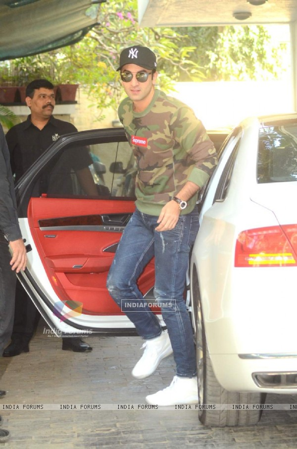 Ranbir Kapoor was snapped at Kapoor Family's Christmas Brunch