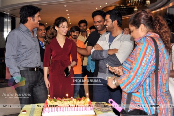 Tammanah's Birthday Celebrations on Oopiri Sets