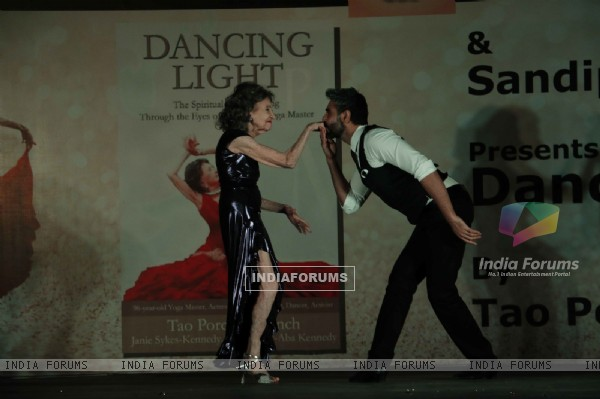 Sandip Soparkar Shakes a Leg with Tao Porche Lynch at Launch of her autobiographu - 'Dancing Light'