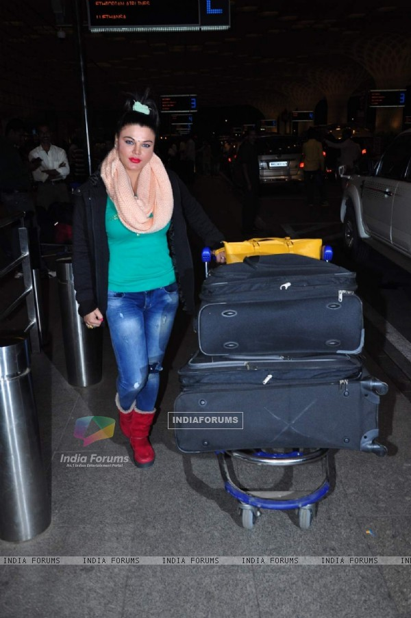 Rakhi Sawant Snapped at Airport