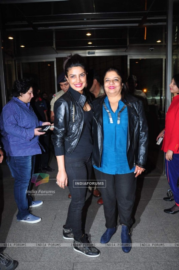 Priyanka Chopra and Madhu Chopra Snapped at Airport