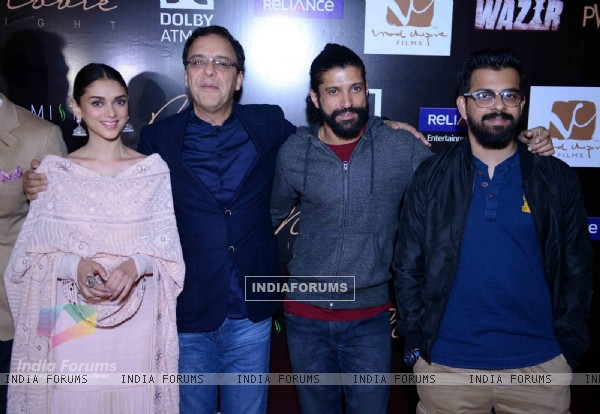 Aditi Rao Hydari, Vidhu Vinod Chopra, Farhan Akhtar and Bejoy Nambiar at Special Screening of Wazir