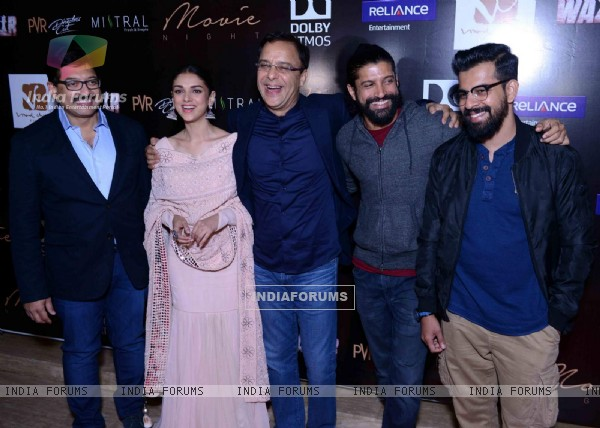 Whole Cast at Special Screening of Wazir