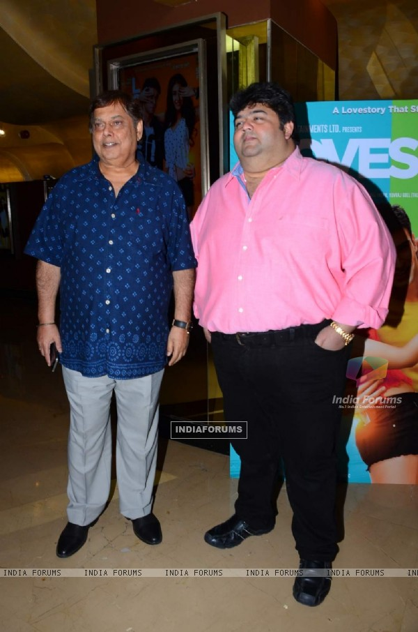 David Dhawan and Rajat Rawail at Trailer Launch of 'Loveshhuda'