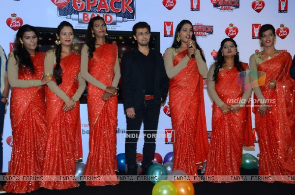 Sonu Nigam at Launch of India's 1st Transgender Band - '6 Pack Band'