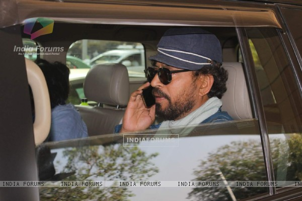 Irrfan Khan Snapped in his Cool New Look at Airport