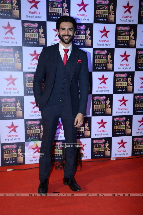 Kartik Aaryan at the 22nd Annual Star Screen Awards