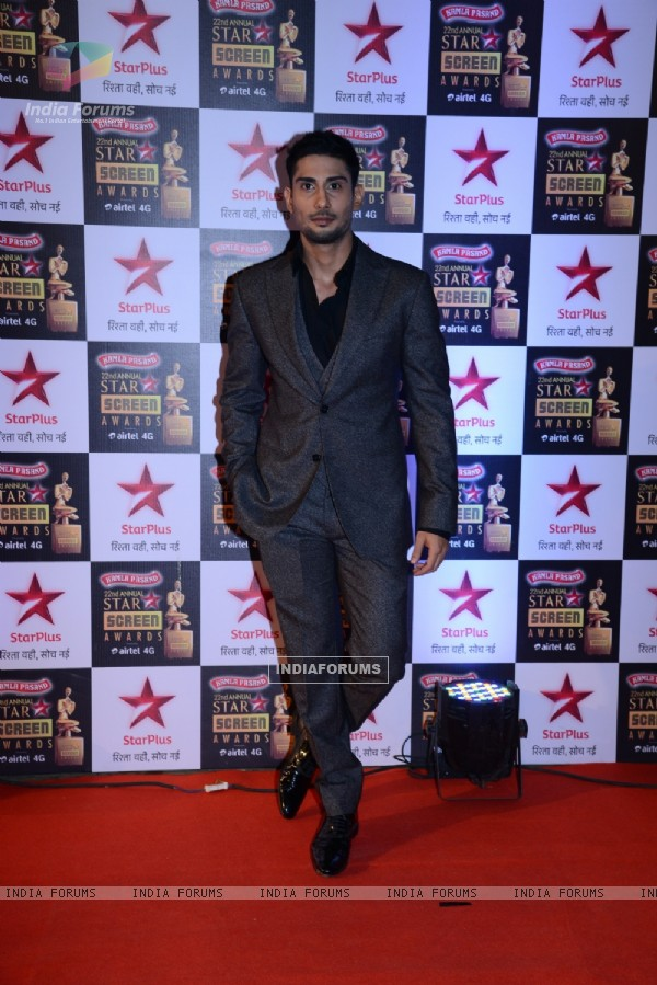 Prateik Babbar at the 22nd Annual Star Screen Awards