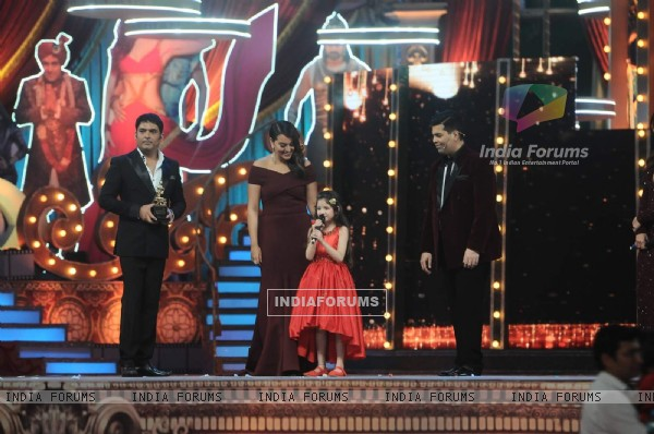 Harshaali Malhotra at the 22nd Annual Star Screen Awards