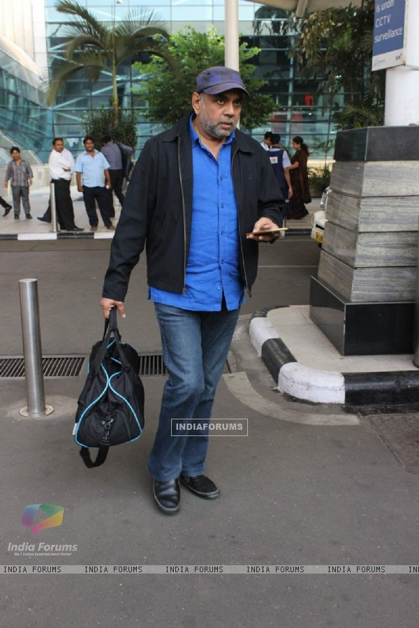 Paresh Rawal was snapped at Airport