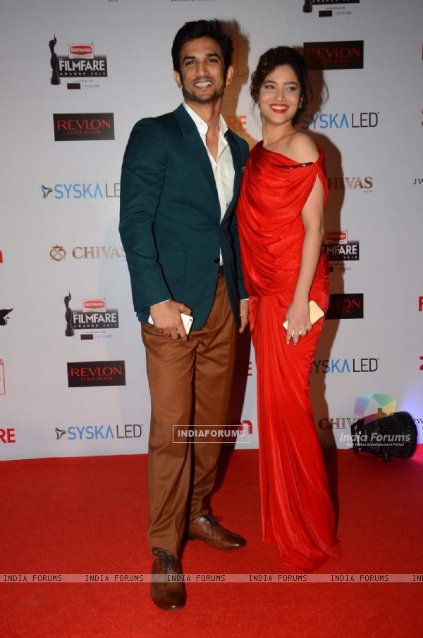 Sushant Singh Rajput and Ankita Lokhande at Filmfare Awards - Red Carpet