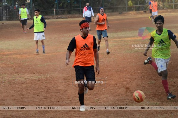 Ranbir Kapoor Snapped Practicing Soccer