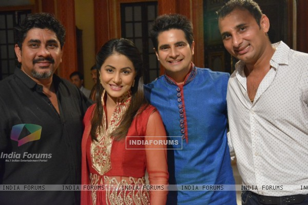 Rajan Shahi, Hina Khana and Karan Mehra at 'Yeh Rishta Kya Kehlata Hai' 7 Years Celebration