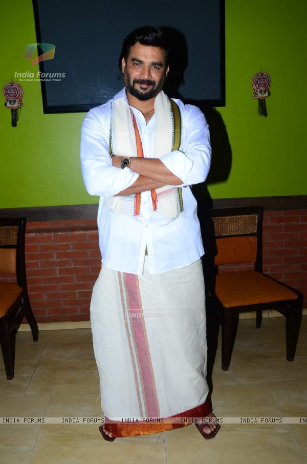 R. Madhavan poses for the media at Pongal Celebrations