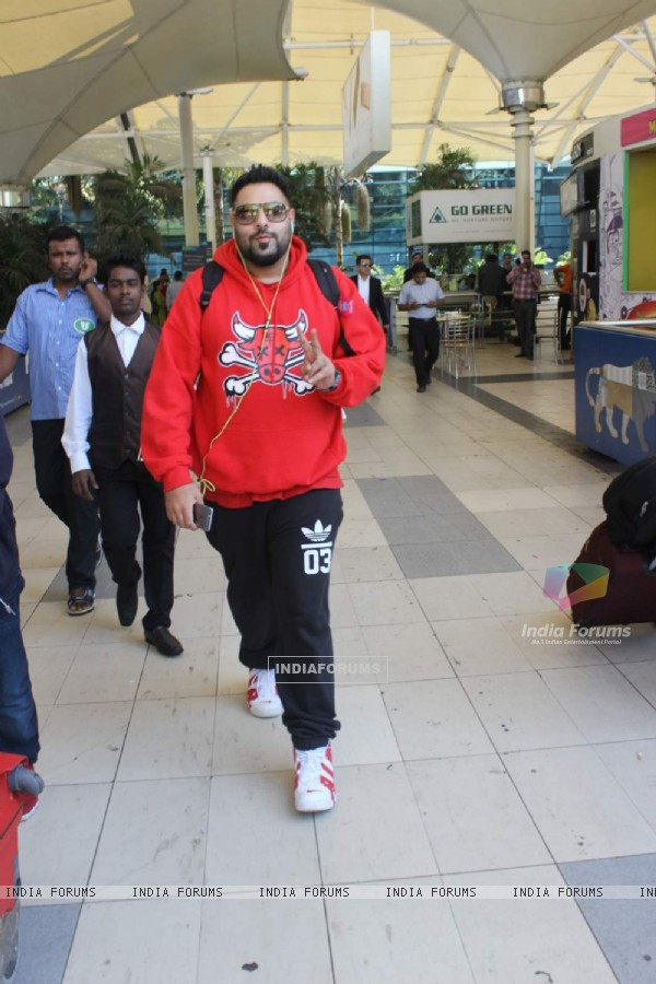 Badshah was snapped at Airport