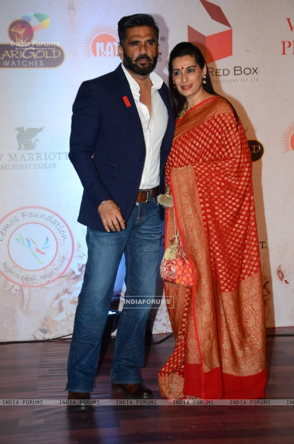 Suniel Shetty and Mana Shetty at Vikram Phadnis' 25th Anniversary Celebration