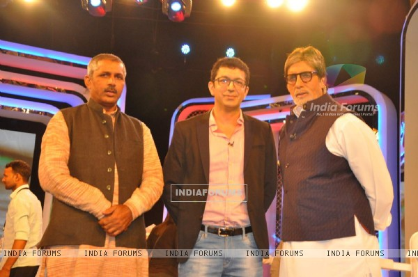 Kunal Kohli and Amitabh Bachchan at NDTV Cleanathon