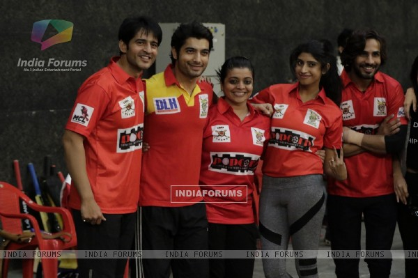 Hiten, Ssharad, Nivedita, Vindhya, Krrip at BCL Season 2 Practise Session