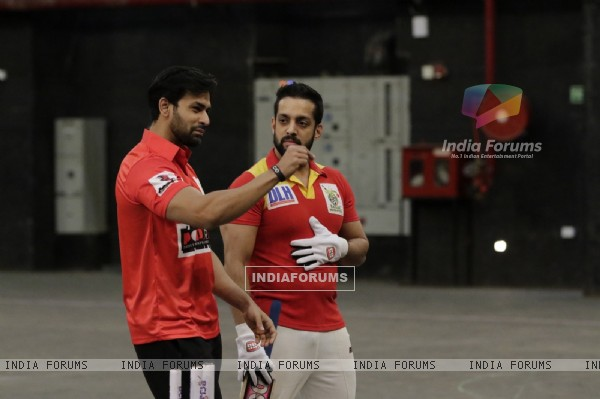 Naman and Salil at BCL Season 2 Practise Session