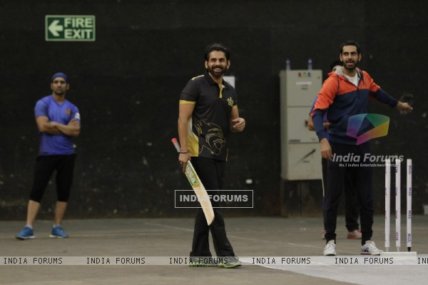 Sikandar and Sunny at BCL Season 2 Practise Session
