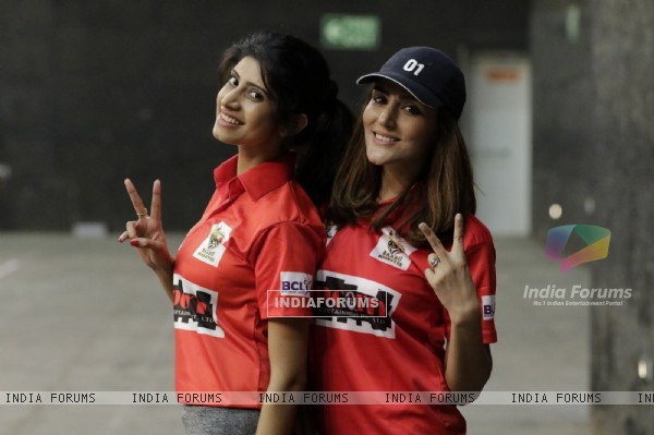 Vindhya and Sudeepa at BCL Season 2 Practise Session