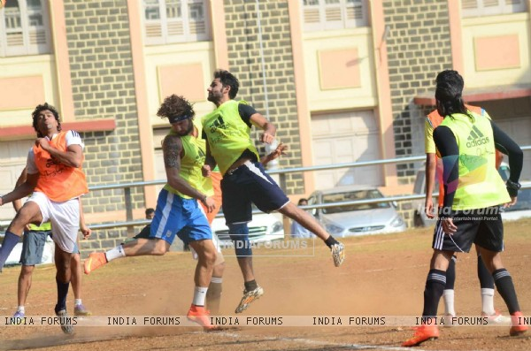 Armaan Jain Snapped Practicing Soccer
