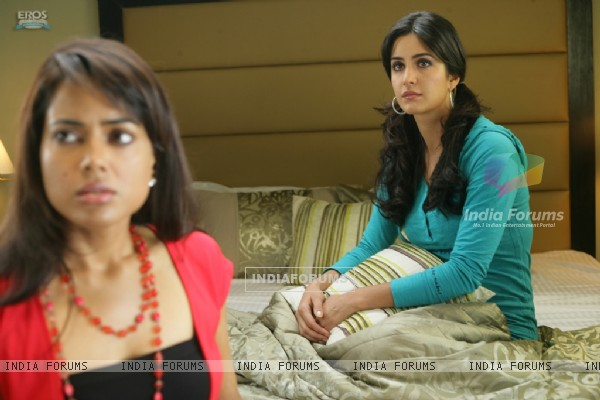 Katrina and Sameera looking confused