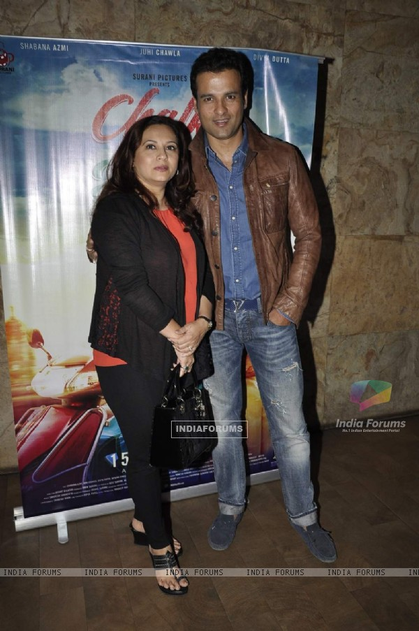 Rohit Roy and Manasi Joshi at Screening of 'Chalk N Duster'