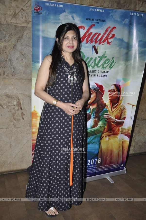 Alka Yagnik at Screening of 'Chalk N Duster'
