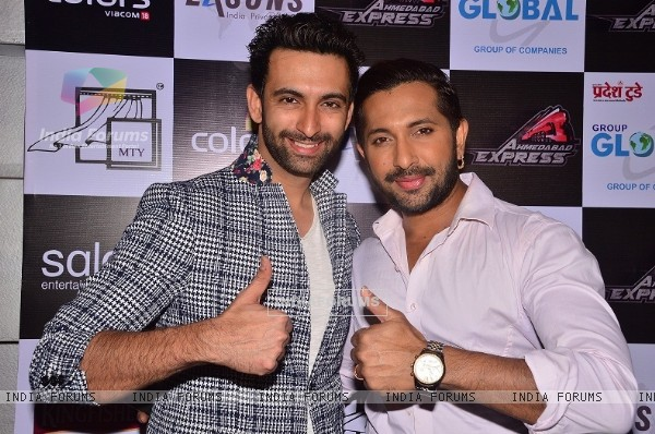 Nandish Sandhu and Terence Lewis at Launch of BCL's Ahmedabad Express Team