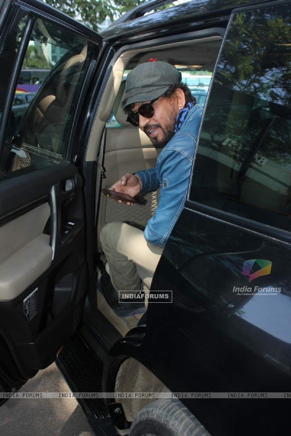 Irrfan Khan Snapped at Airport
