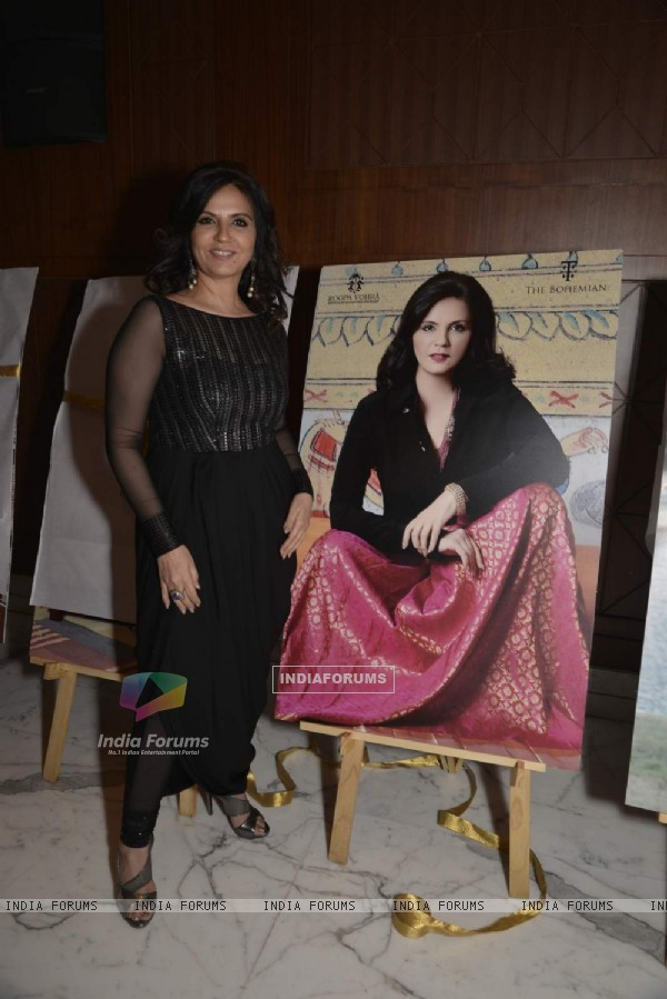 Neeta Lulla Poses With Her Poster at Roopa Vohra's Calendar Launch