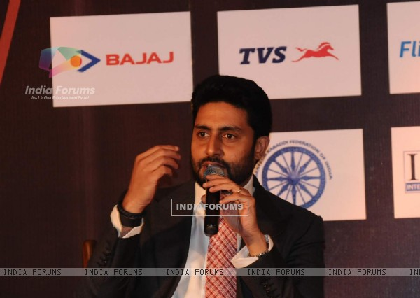 Owner of Pink Panther 'Abhishek Bachchan' at Press Meet of Pro Kabaddi in Delhi